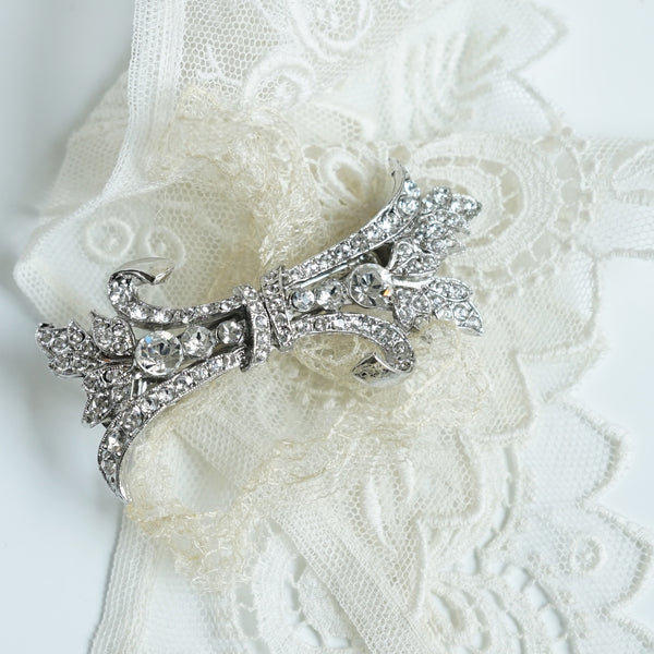 Crystal Ribbon Bouquet Barrette - Lily Beaufort