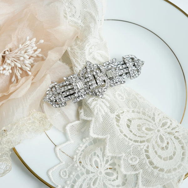 Deco Crystal Barrette - Lily Beaufort