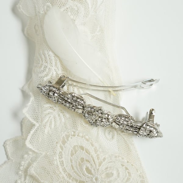 Deco Crystal Barrette - Lily Charleston