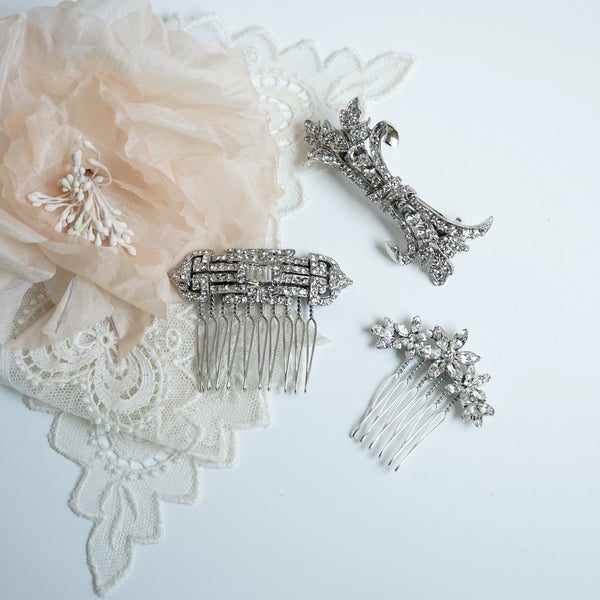 Deco Crystal Hair Comb - Lily Beaufort