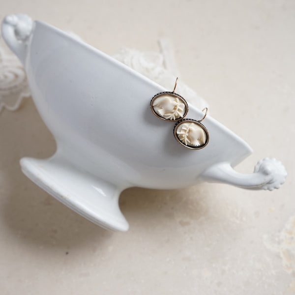 Ivory Peace Dove Earrings - Lily Charleston
