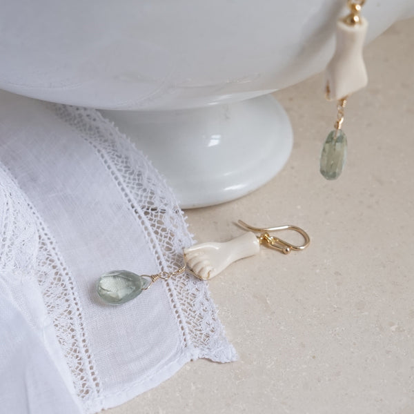 Ivory Hand Earrings - Lily Charleston