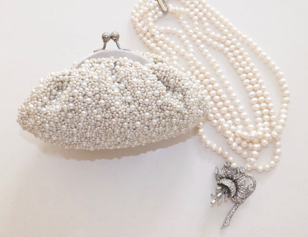 Caviar Pearl Evening Bag - Lily Charleston