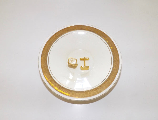 Vintage Gold Shield Cufflinks - Lily Charleston