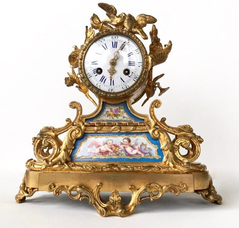 Bronze Doré French Clock