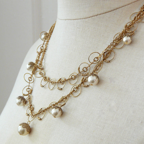 La Vie Parisienne Pearl Orb Necklace - Lily Charleston