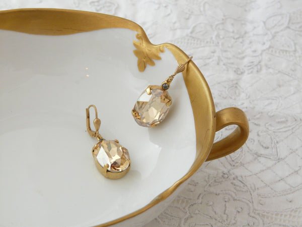 La Vie Parisienne Champagne Earrings - Lily Charleston