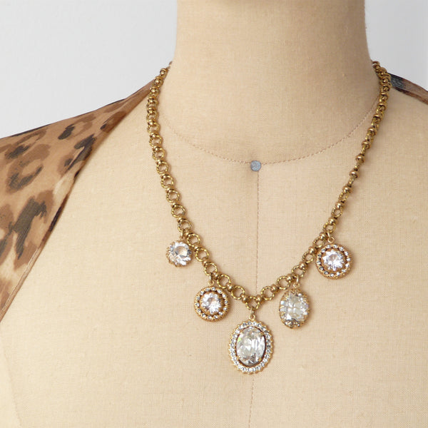 La Vie Parisienne Crystal Charm Necklace - Lily Charleston