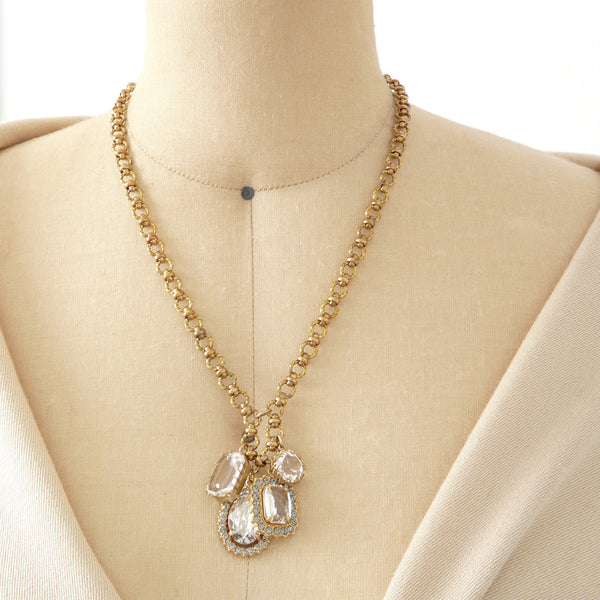 Parisienne Charm Cluster Necklace - Lily Beaufort