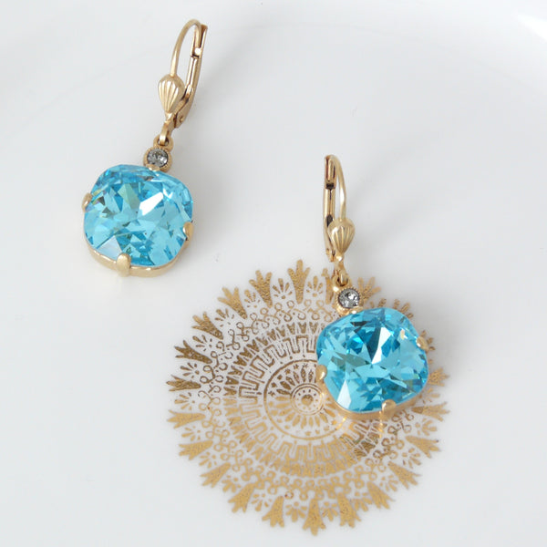 La Vie Parisienne Turquoise Crystal Earring - Lily Charleston