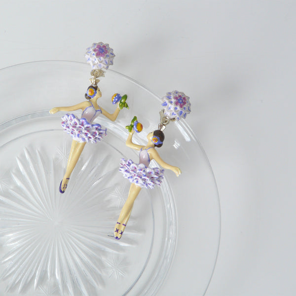 Les Néréides Flower Dancer Earrings - Lily Charleston