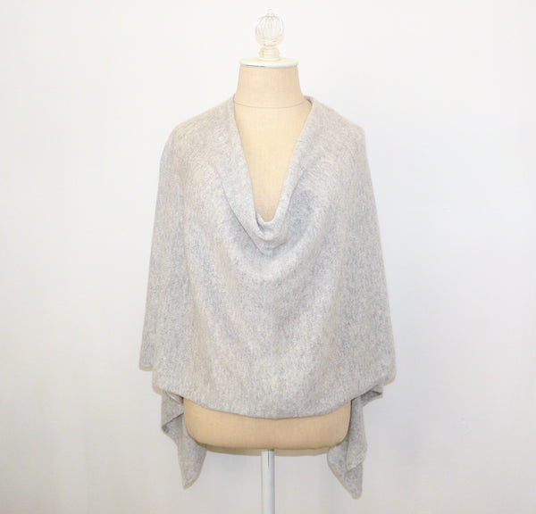 Gray Cashmere Wrap - Lily Beaufort