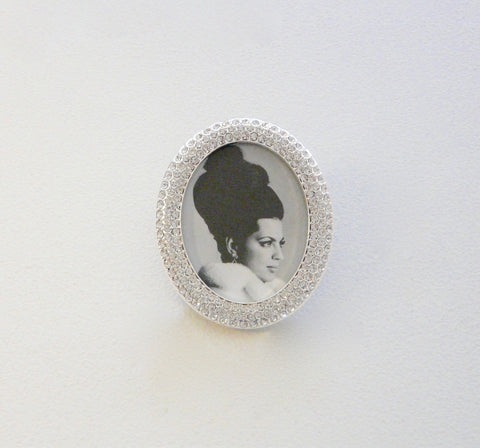 Crystal Encrusted Oval Mini-Frame - Lily Charleston