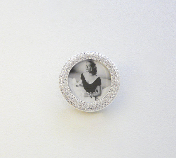 Crystal Encrusted Circle Mini-Frame - Lily Beaufort