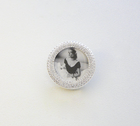 Crystal Encrusted Circle Mini-Frame - Lily Charleston