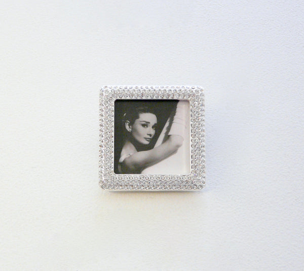 Crystal Encrusted Square Mini-Frame - Lily Beaufort