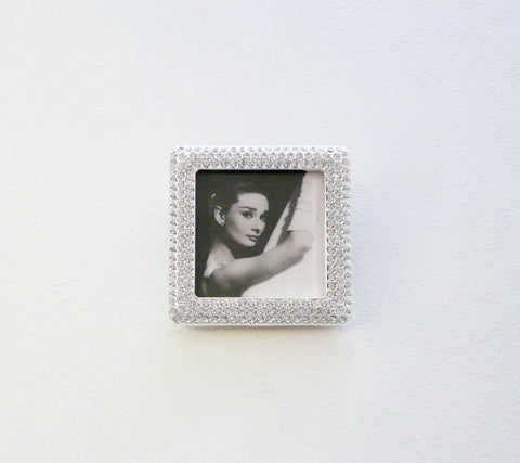 Crystal Encrusted Square Mini-Frame - Lily Charleston