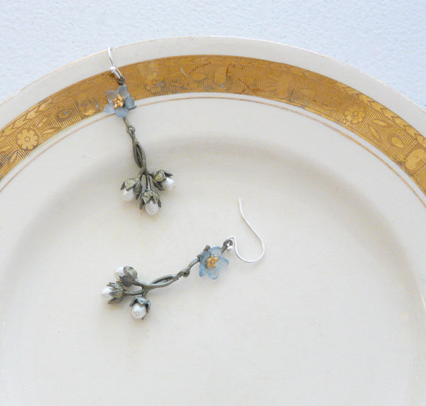 The Botanical Garden Forget-Me-Not Earrings - Lily Beaufort