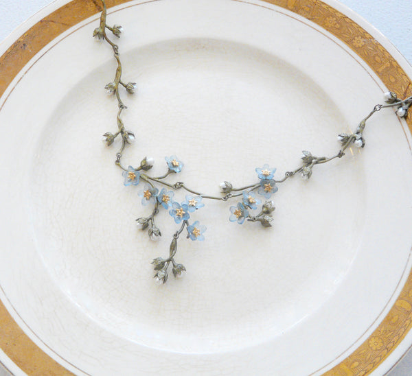 The Botanical Garden Forget-Me-Not Necklace - Lily Beaufort
