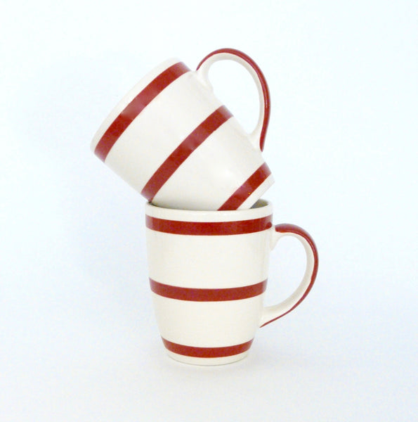French Red & White Striped Coffee Cup - Lily Beaufort
