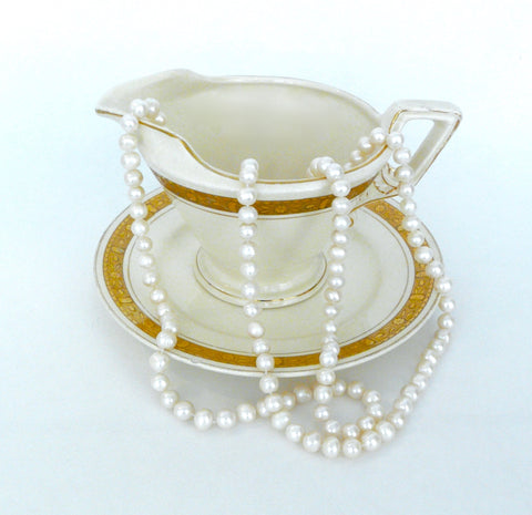 Karen Lindner Vintage Opera Length Pearl Necklace - Lily Charleston