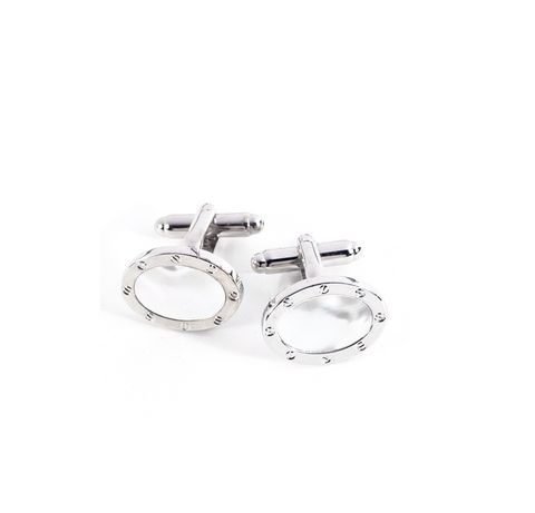 Classic Oval Mother-of-Pearl Cufflinks