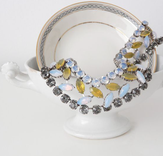 JL Blin Yellow Opal Collar