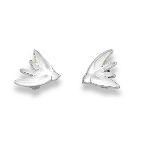 Lalique Hirondelles Earrings - Lily Charleston