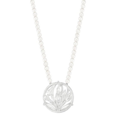 Lalique Fleur de Neige Necklace - Lily Charleston