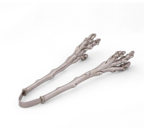 Pewter Asparagus Tongs - Lily Beaufort