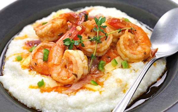 Shrimp & Grits by Nathalie Dupree & Marion Sullivan - Lily Bluffton