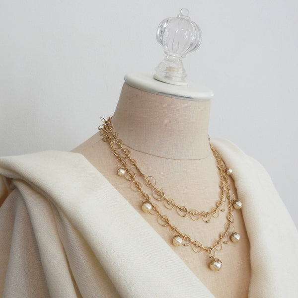 La Vie Parisienne Pearl Orb Necklace