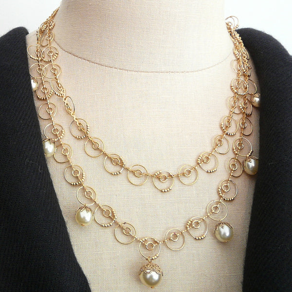 Parisienne Pearl Orb Necklace - Lily Beaufort