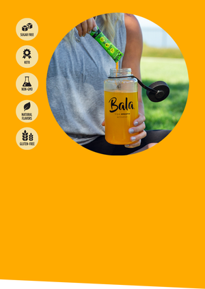 Bala Enzyme - Sugar-free, Keto, Non-GMO, Natural Flavors, Gluten-Free great-tasting sports drink alternative fueled by turmeric, active enzymes and electrolytes.