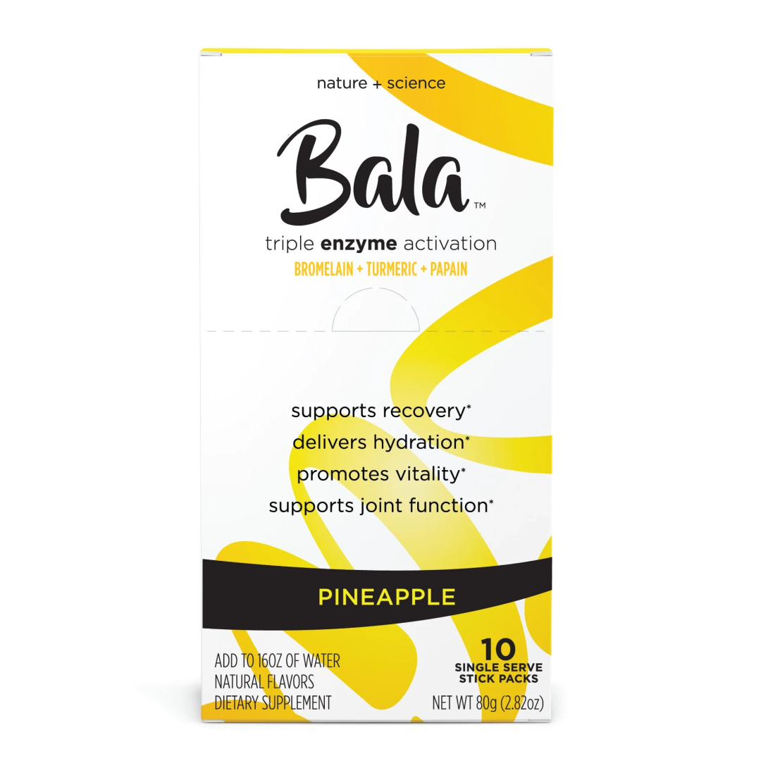 Bala Post Workout Electrolyte PowderHydration | Supplement and Recovery Boost – Pineapple Flavor– 10 Packets