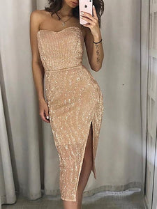 Sequin Sleeveless Maxi Dress