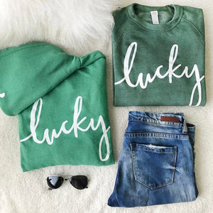 Lucky You St. Patrick's Day Green Sweatshirts