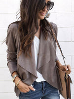 Suit Collar Irregular Cardigans