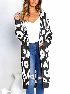 Knitted Pocket Long Sleeve Cardigan