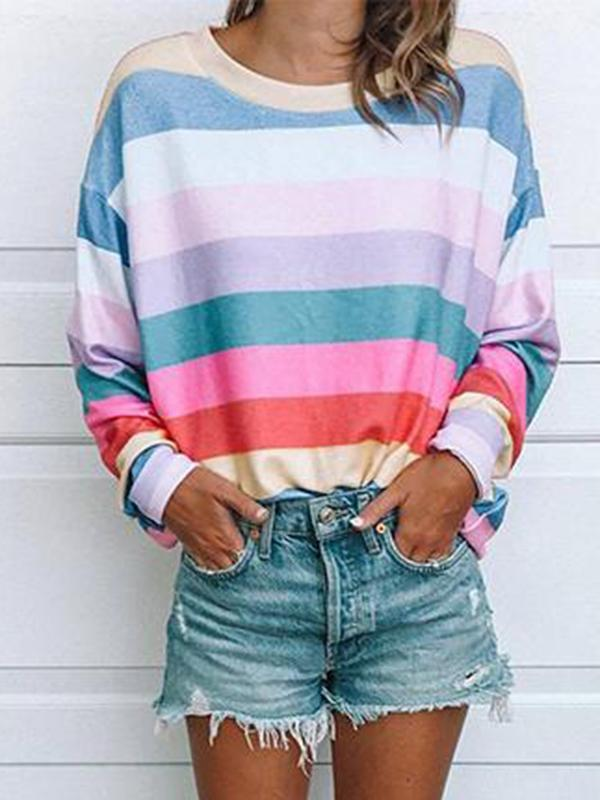 Beautiful World Striped Multicolor T-shirt