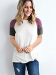 Color Block Short Sleeve T-shirts