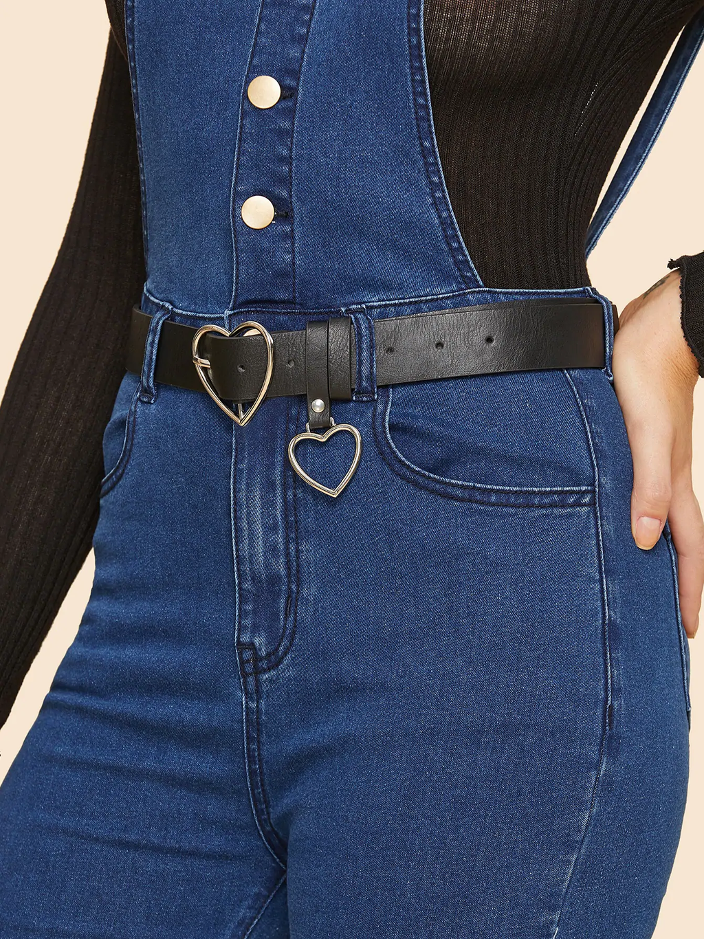 Heart Charm Heart Shaped Buckle Belt