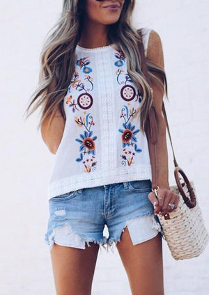Tassel Printed Fashion Tank