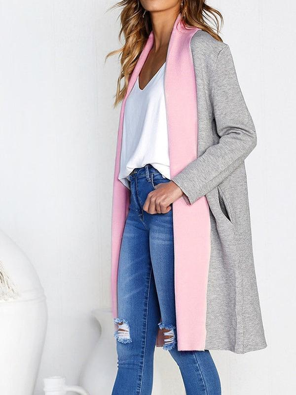 Two-Tone Long Coat
