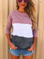 Multicolor Stitching T-shirt