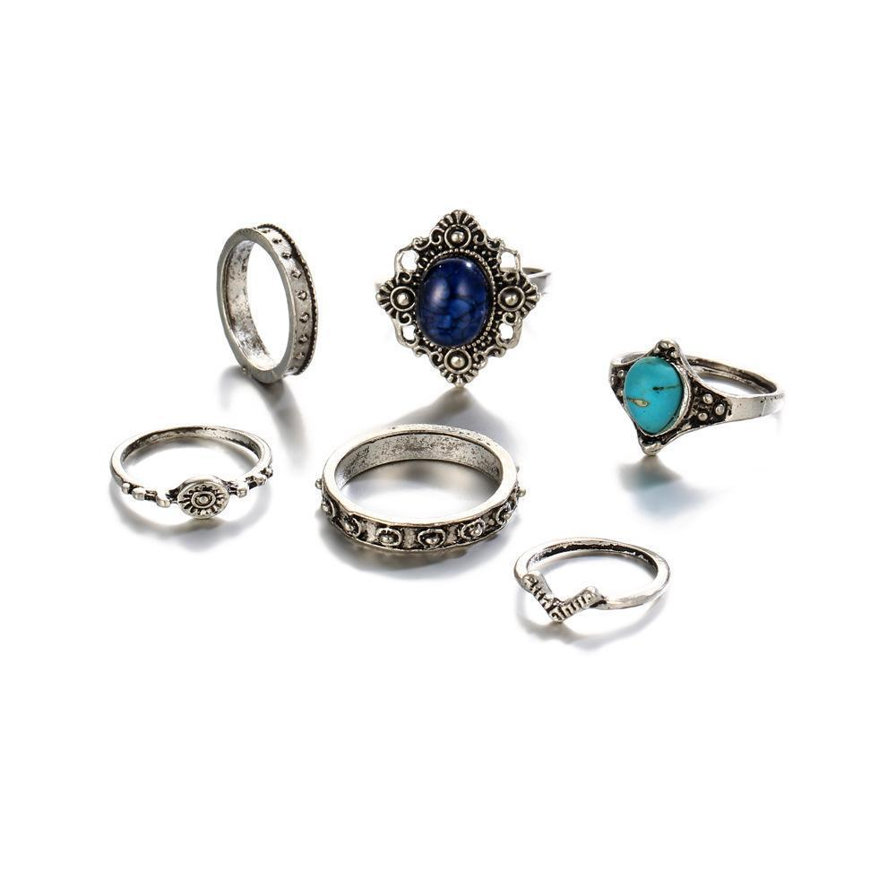 Gemstone Ring Set For Women