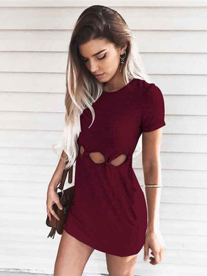 Summer Sexy Buttock Short Sleeve Dress