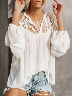 Free Shipping New Design Formal Lace Blouses