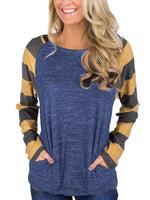 Long Sleeve Splice T-shirt