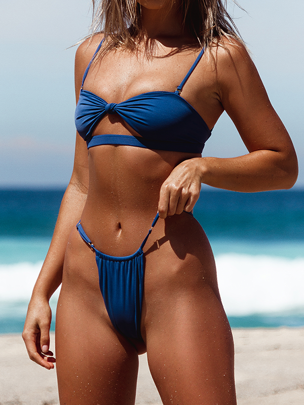 Cut Out knot Bikini Set